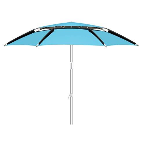 Macro Paraguas de Pesca, Impermeable y a Prueba de Viento, Ajuste Universal, protección UV, 3 Niveles de Ajuste, Adecuado para Puestos al Aire Libre
