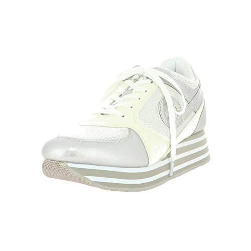 No Name Parko Jogger Zapatillas Moda Mujeres Plateado - 41 - Zapatillas Bajas Shoes