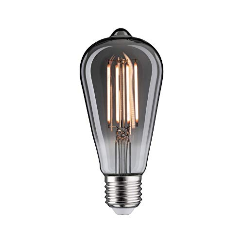Paulmann 28607 LED Lampe Vintage ST64 7,5 Watt Retro Leuchtmittel dimmbar Rauchglas Glas 2200 K Goldlicht E27