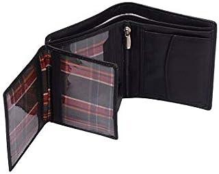Genuine Leather Luxury Bifold Mens Wallet Black Credit Card Case Slim Purse