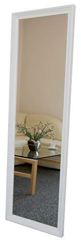 BD ART Espejo de Pared con Marco de Madera 50 x 160 cm, Color Blanco