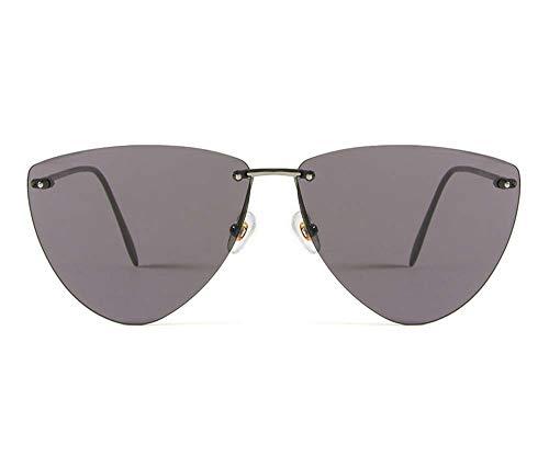 JXS Gafas de sol polarizadas sin montura de titanio puro lig