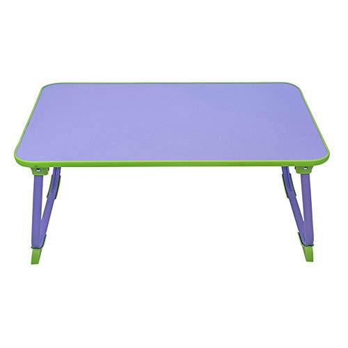 Blingstars 100% beweegbare laptop-bureau, tafelstandaard, klapontbijt met koffiehouder voor bed, sofa, koffiekopje, boeken en snacks, roze blingsterren paars