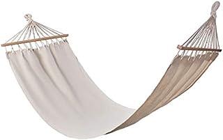 comprar comparacion Publiclick Hamaca Tumbona Colgante Canvas Beige, Colgante con Travesaño Color Natural 190x0,80 cm. Incluye Bolsa de Transp...