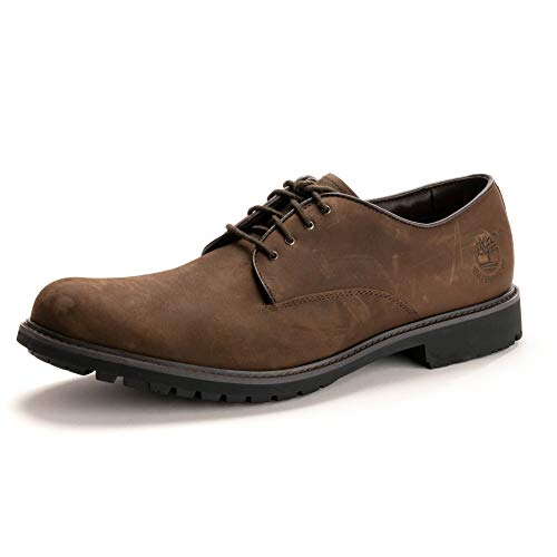 Timberland Stormbucks Plain Toe, Scarpe Oxford Uomo, Marrone Dark Brown Nubuck, 44 EU