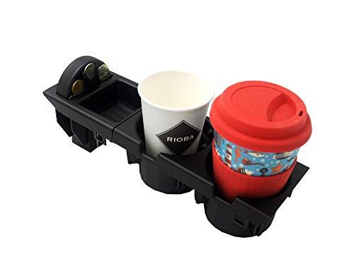 Proparts Getränkehalter Dosenhalter Mittelkonsole mit Münzbox Schwarz