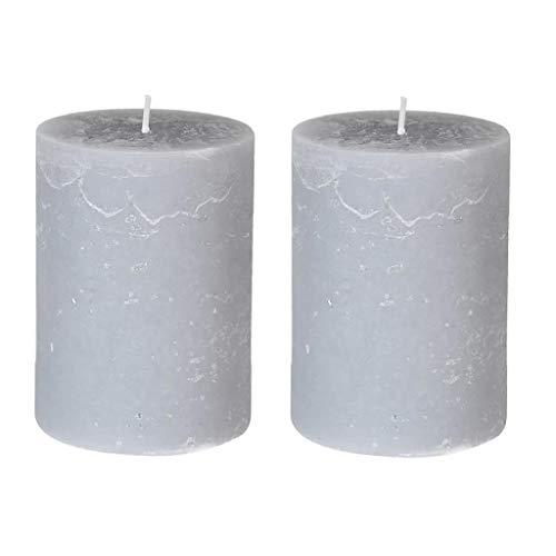 Dibor Pillar Candle Set 2 Magnolia Scented 48h Burn Time Candles (CF49)