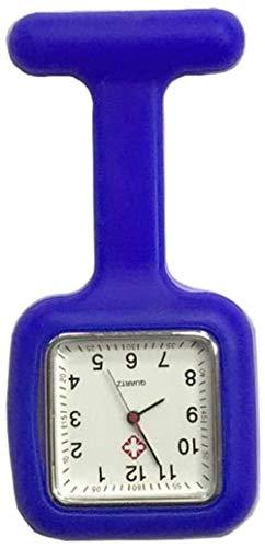 LLGG Reloj De Bolsillo De Cuarzo A Prueba De Agua,Mesa de Enfermera Cuadrada de Color sólido, Mesa de Examen para Estudiantes-Baolan,Reloj MéDico De Bolsillo Colgante