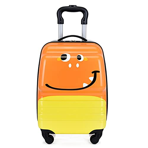 Valigia dei Bambini Svegli, Bagagli di Viaggio del Fumetto, Bagagli di Viaggio del Ragazzo E della Ragazza del Boy E della Ragazza Piccola Valigia con 4 Ruote,Orange Bugs