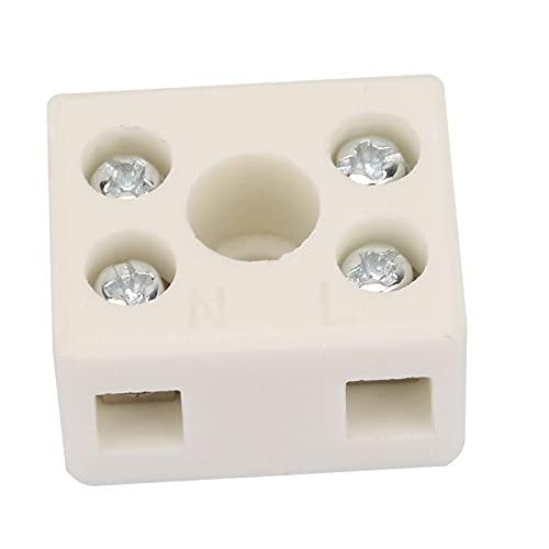 5Pcs Connettore filo di alta qualità 2 posizioni 5 fori Morsettiera per cablaggio in ceramica Scatole di giunzione montate su superficie