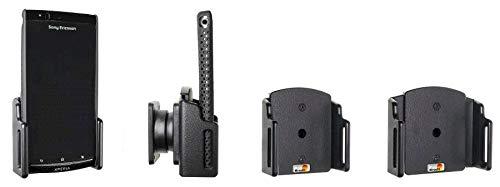Brodit 511307 passiv universal Kfz-Halterung (Breite: 62-77mm, Dicke: 6-10mm) schwarz