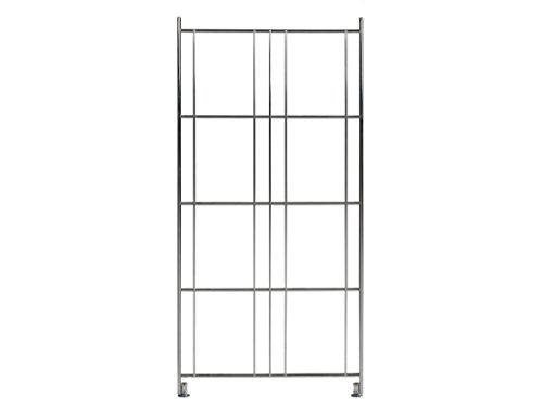 Balton Regalleiter BIII für Regal Systeme, Metall, Chrom, 80 x 38 x 2 cm