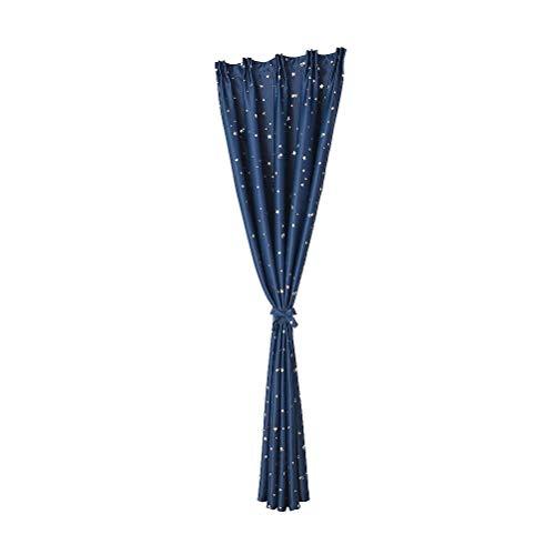 Eastery 100 X 250 cm Sterne Drucken Verdunkelungsvorhang Fenster Verdunklung Vorhänge Einfacher Stil Für Wohnzimmer Schlafzimmer (Marineblau) (Color : Colour, Size : Size)