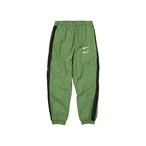 Nike Sportswear Swoosh Woven joggingbroek Treeline/Zwart/Wit