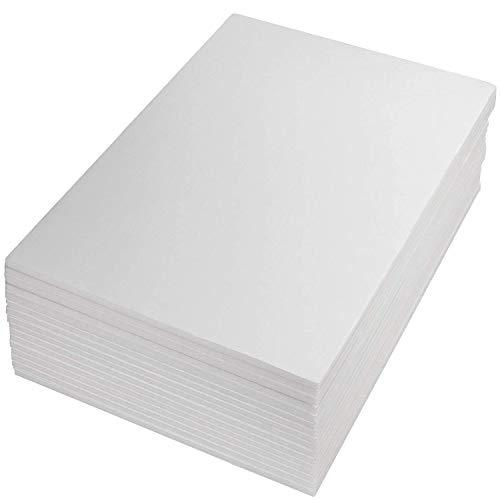 ASelected - 16 tableros de espuma A3 – hoja de espuma de poliestireno blanco de 5 mm (297 × 420 mm)