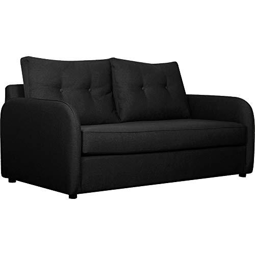 Meubletmoi 7263 - Sofá convertible, 3 plazas, tejido gris antracita