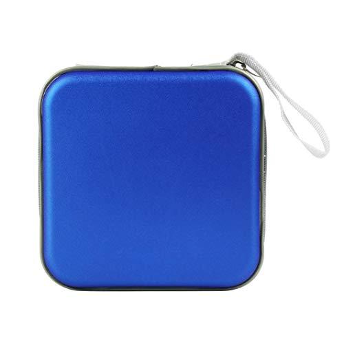 Caja de almacenamiento de CD de 40 discos de medios de soporte portátil de CD de la cartera de la funda de CD paquete de CD/DVD caja de almacenamiento azul productos para el hogar