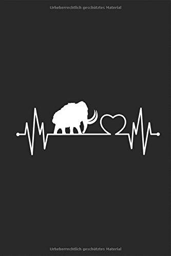 Mammut Herzschlag: Urzeit Eiszeit ausgestorben Tier Elefant Planen Notieren Rechenheft Liniert Journal A5 120 Seiten 6x9 Heft Skizzenbuch Tagebuch ... für Kinder Studenten Jungen Archologe Schüler