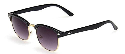 Embryform cl¨¢sico retro de las gafas de sol Medio marco montura de concha
