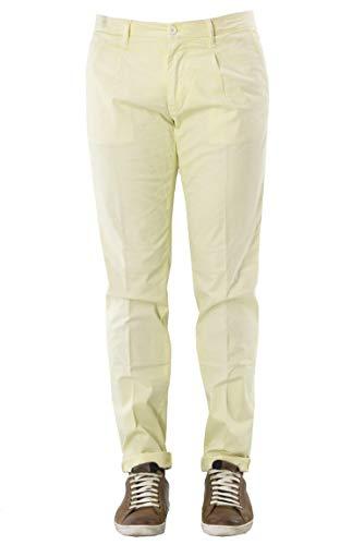 Pantalone In Cotone Tasca America Con Pence, Giallo, 52