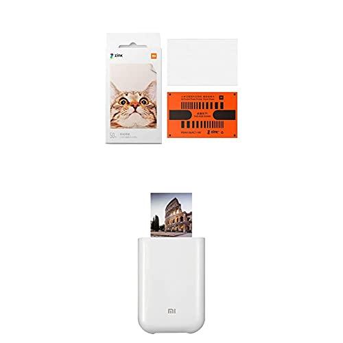 Xiaomi Carta Fotografica Portatile per Stampante + Stampante Laser Portatile