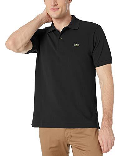 Lacoste Men's Short Sleeve L.12.12 Pique Polo Shirt Polo Shirt, Black, L