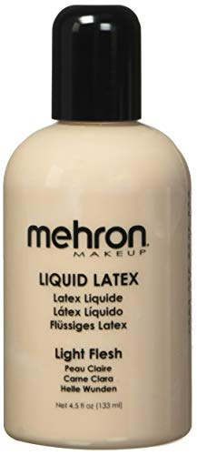 Mehron Makeup Liquid Latex (4.5 oz) (Light Flesh)