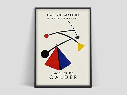 Alexander Calder Kunstausstellungsplakat, Calder mobiler Kunstdruck, Kunstgalerie, abstrakte Kunst, rahmenlose Dekoration der Ausstellungswandkunst A81 70x100cm