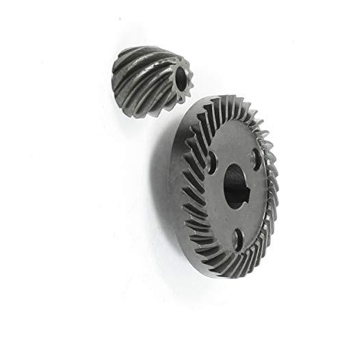 Aexit Juego de piñones de engranajes cónicos en espiral de la pieza de reparación para la amoladora (model: R7672IV-3249SW) angular Matika 9553