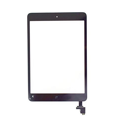 Screen replacement kit Fit For IPad Mini 1 1st A1432 A1454 A1455 Touch Screen Digitizer Sensor Glass + LCD Display Screen Panel Monitor Repair kit replacement screen (Color : Black Touch Screen)
