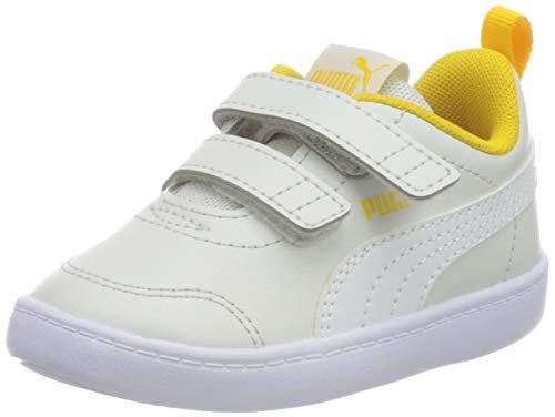 Puma Unisex Baby COURTFLEX V2 V INF Sneaker, Weiß(Nimbus Cloud-Puma White), 24 EU