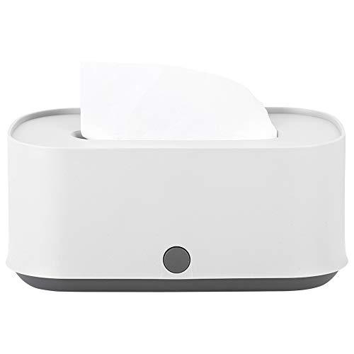 Agatige Tissue Box Cover Rectangular, Tissues Cube Box Facial Tissues Box Holder for Bathroom Kitchen Office Car 9.5x5x4inch(White)