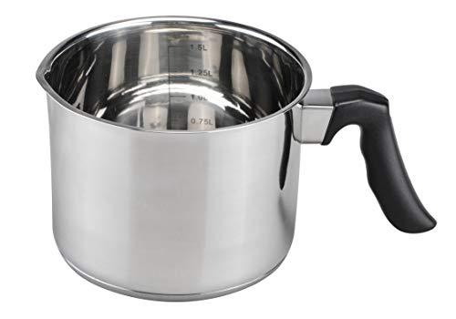 Spetebo Cazo de leche de acero inoxidable de 1,5 litros – adecuado...
