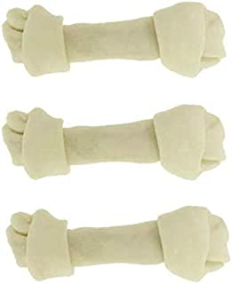 """Great Lakes Dog Rawhide Bones Pack of 3. Large 8""""-10"""" Knotted Bones. No Additives, Chemicals or Hormones - Natural Grass F..."""