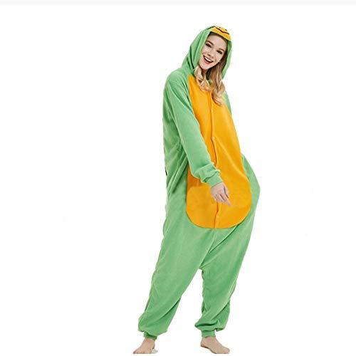 Schlafanzug Niedliche grüne Schildkröte Kigurumi Cartoon Anzug Hooded Animal Onesies für Erwachsene Männer Frauen Paar Paar Pyjamas Lustige Overalls Kostüm-Schildkröte_XL