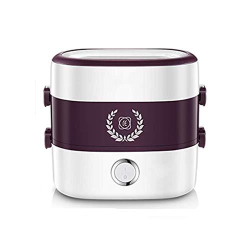 Keramische kom Bento Box Draagbare Huishoudelijke Verwarming Lunch Box Multi-Functie Koken Rijstkoker Pot Onafhankelijke Liner Stoom Circulatie Enkele Dubbele Combinatie Snelle Verwarming 1.5L