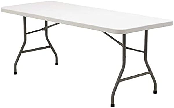 Seamless Top Commercial Grade Rectangular Folding Table 30 X96 8 Ft Arrives Fully Assembled