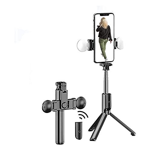 ELXSZJ XTZJ Selfie Stick Bluetooth, Selfie Stick Tripod - Stick de trípode Extensible con Soporte telefónico, trípode inalámbrico Selfie Stick, trípode portátiles para teléfono