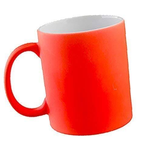 - Senza marca/Generico - Tazza da Colazione Personalizzabile Stampa Personalizzata Foto Logo Nome Disegno Fluorescente Idea Regalo Rosa Verde Arancione Giallo Fluo (Arancione)