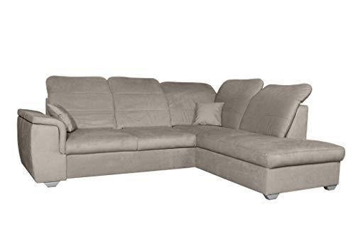 MOEBLO Ecksofa mit Schlaffunktion mit Bettkasten Sofa Couch L-Form Polstergarnitur Wohnlandschaft Polstersofa mit Ottomane Couchgranitur - BLAS...