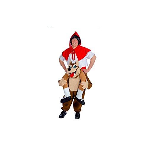 Ride On roodkapje en boze wolf kostuum voor volwassenen