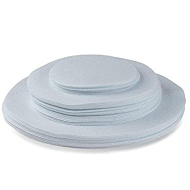 Felt Plate China Dividers Protectors White Extra Large Thick and Premium Soft Set Of 96 24-10.5 , 48-7.5 , 24-5