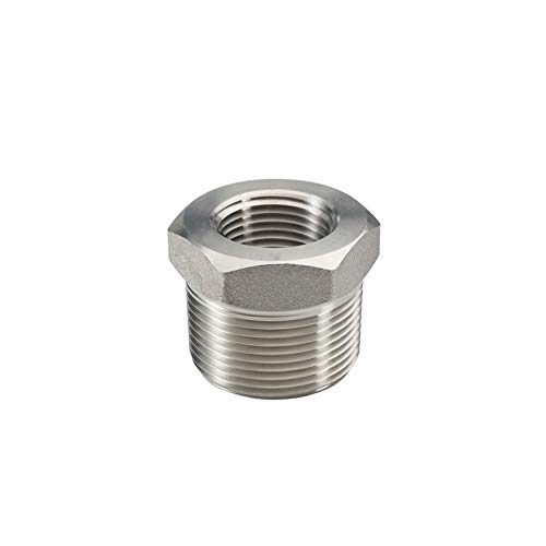 Beduan Stainless Steel Reducer Hex Bushing, 3/4 Male NPT to 1/2 Female NPT, Reducing Cast Pipe Adapter Fitting