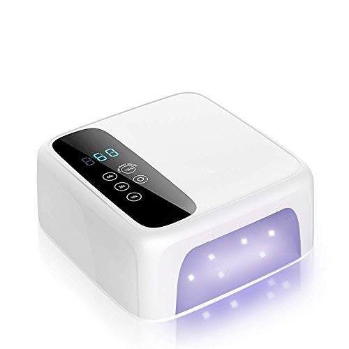 72W UV LED Nail Lamp, Hotrose Nail Dryer Fast Drying Gel Nail Polish Lamp with 4 Timer Touch Screen Auto Sensor Professional Gel Nail Lamp for Fingernail and Toenail