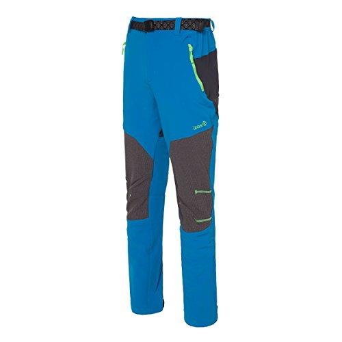 IZAS Elin Pantalon de Trekking Homme Blue River/Gris Foncé/Vert Clair FR: S (Taille Fabricant: S)