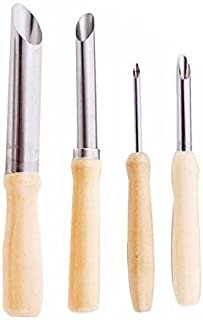 OFKPO Outils Perforatrice Demi Ronde pour Poterie Céramique Modelage Sculpture Gravure Argile Ciseaux Couteau, Acier Inoxy...