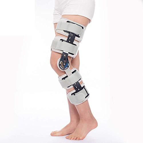 Giow Kniebandage mit Scharnieren, verstellbare Kniebandage, nach Op klappbar, Universal-Beingröße