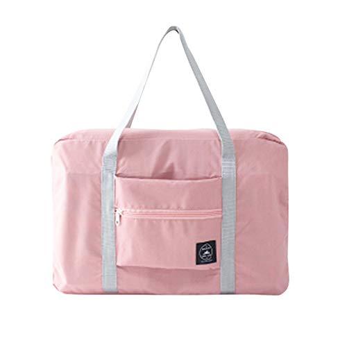 ZYElroy Travel Carry On Duffle Bag Large Foldable Luggage Clothes Storage Weekender Shouder Bag Overnight Handbag