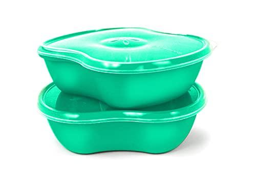 Preserve Recipiente de armazenamento de alimentos, conjunto de 2, azul água