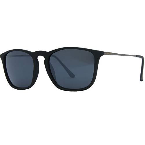 Óculos de sol, Bulsara, Cavalera, Retangular, Adulto-Unissex, Preto Fosco, Único